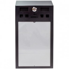 XL Slim Cigarette Bin with A4 Panel (BDW24)