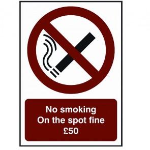 No Smoking Fine Sign (BDSS08)