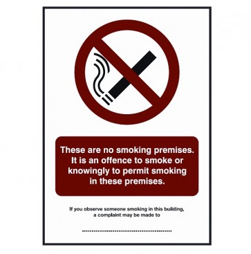 No Smoking Premises Notification (BDSS06)