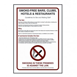 Staff Guidelines Sign (BDSS09)