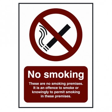 Offence to Smoke Sign (BDSS07)